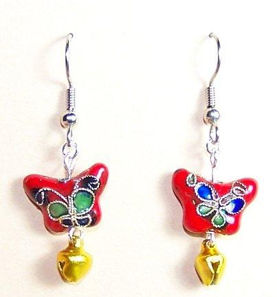CLS017-BE Butterfly Earrings