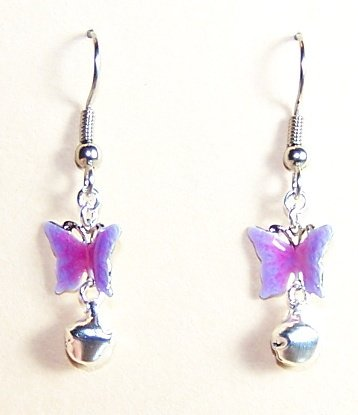 EN003-BE Mini Butterfly Earrings