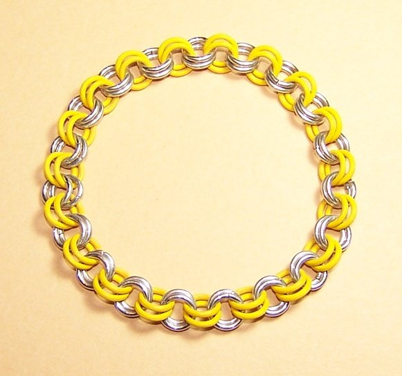 AR-CH003-YSIL-S Small Aluminum and Yellow Bracelet
