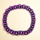AR-CH003-VIOBLK-L Large Violet and Black Bracelet