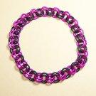 AR-CH003-PINKBLK-L Large Pink and Black Bracelet