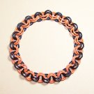 AR-CH003-OBLK-L Large Black and Orange Bracelet