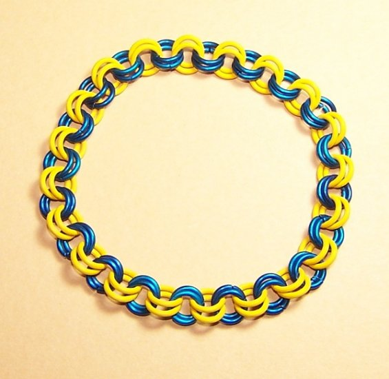 AR-CH003-BLUY-L Large Blue and Yellow Bracelet