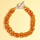 A-CH004-OR-S Small Orange Chainmail Bracelet