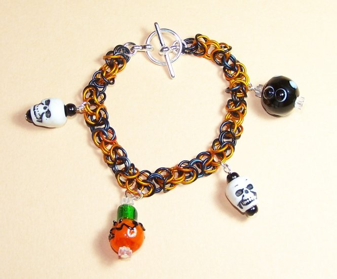A-CH004-LPG Halloween Chainmail Bracelet