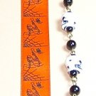 R001-OR-SKULL Ribbon Bookmark