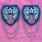 "71 #9 EMBLEMS, DECALS, Patches Chains 2 1/2"" Blue NEW"
