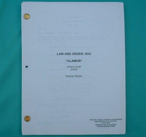 LAW & ORDER: SVU Script 1999 Meloni Hargitay Belzer