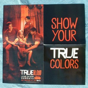 """TRUE BLOOD POSTER 2011 21""""X22"""" Paquin - NEW"""