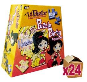 24 x Lil' Bratz 100 Piece Puzzle Party & Stickers