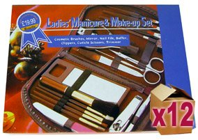 12 x Ladies 18 Piece Manicure & Makeup Sets
