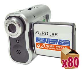 80 x Eurolab 4.0MP Digital Video Camera - 4X Digital Zoom
