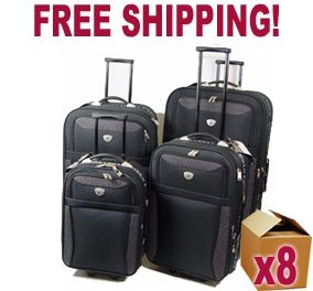 Pallet of 8 x 4pc Beverley Hills Polo Club Trolley Case