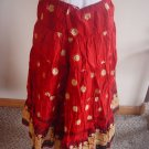 Red Fabric for Skirt