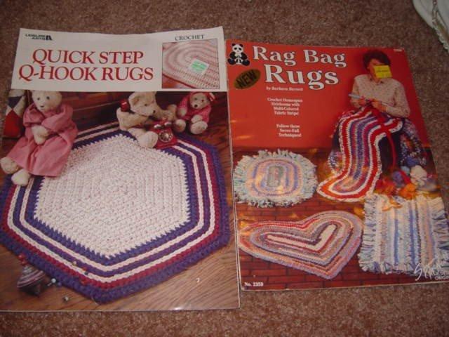 2 Rag rug pamphlets