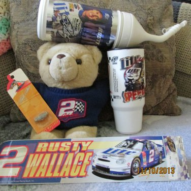 Lot of Rusty Wallace Nascar Collectibles A