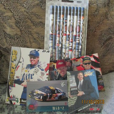 Lot of Rusty Wallace Nascar Collectibles B