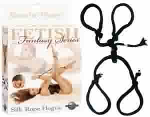 Fetish Fantasy Silk Rope Hogtie