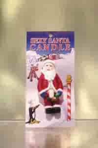 Sexy Santa Candle