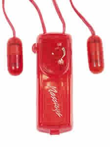 Vibrating Twin Mini Bullets Red Vibrator