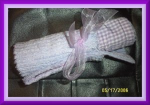 Boutique Lavender Chingam and Chenille Diaper Bag Changing Pad