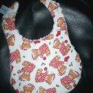 Handmade Christmas Baby Bib ~ Christmas Teddy Bears FREE US AND CANADA SHIPPING