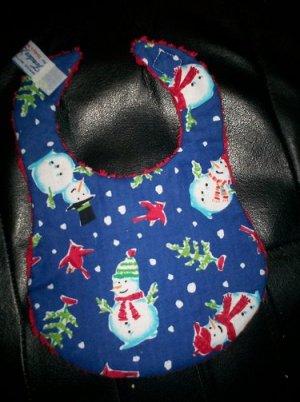 Handmade Baby Bib ~ Cardinals & Christmas Trees FREE US AND CANADA SHIPPING