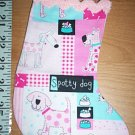 Handmade Christmas Ornament 335 Pink Patch Puppy Dogs FREE US AND CANADA SHIPPING
