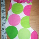 Handmade Christmas Stocking Ornament #377 Disco Dot FREE US AND CANADA SHIPPING
