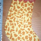 Handmade Christmas Stocking Ornament #313 Giraffe FREE US AND CANADA SHIPPING
