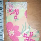 Handmade Christmas Stocking Ornament #033 Luau Flowers FREE US AND CANADA SHIPPING