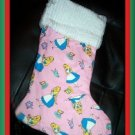 Handmade Christmas Stocking ~ Alice in Wonderland FREE US AND CANADA SHIPPING
