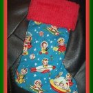 Handmade Christmas Stocking Miller Retro Rocket Rascals FREE US AND CANADA SHIPPING