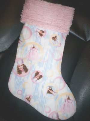 Handmade Christmas Stocking ~ Wizard of Oz ~ Glinda FREE US AND CANADA SHIPPING
