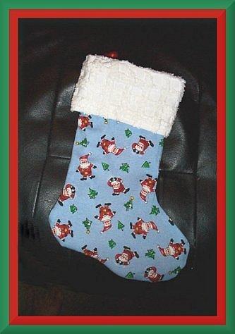 Handmade Christmas Stocking ~ Sweet Santa Claus FREE US AND CANADA SHIPPING