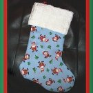 Handmade Christmas Stocking ~ Sweet Santa Claus FREE US AND CANADA SHIPPING