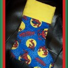 Handmade Christmas Stocking ~ Spiderman Badge FREE US AND CANADA SHIPPING