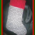 Handmade Christmas Stocking ~ Sheet Music Staff FREE US AND CANADA SHIPPING