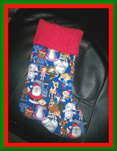Handmade Christmas Stocking ~ Rudolph & the Misfit Toys FREE US AND CANADA SHIPPING