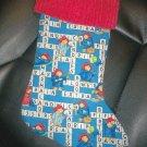 Handmade Christmas Stocking ~ Paddington Bear Crossword FREE US AND CANADA SHIPPING
