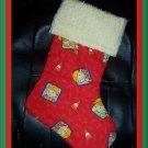 Handmade Christmas Stocking ~ Orange Bob the Builder FREE US AND CANADA SHIPPING