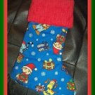Handmade Christmas Stocking ~ Holiday Bob the Builder FREE US AND CANADA SHIPPING