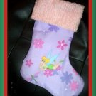 Handmade Christmas Stocking ~ Disney Tinkerbell Fairy P FREE US AND CANADA SHIPPING