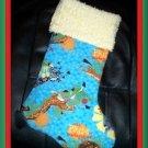 Handmade Christmas Stocking ~ Disney Madagascar FREE US AND CANADA SHIPPING