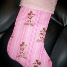 Handmade Christmas Stocking ~ Disney Pink Mickey Mouse  FREE US AND CANADA SHIPPING