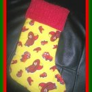 Handmade Christmas Stocking ~ Curious George Fireman FREE US AND CANADA SHIPPING