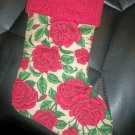 Handmade Christmas Stocking ~ Beautiful Red Roses FREE US AND CANADA SHIPPING