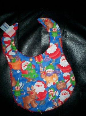 Handmade Christmas Baby Bib ~ Christmas Fun
