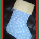 Handmade Christmas Stocking ~ Baby Sailboats FREE US AND CANADA SHIPPING
