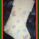 Handmade Christmas Stocking ~ Yellow Precious Moments